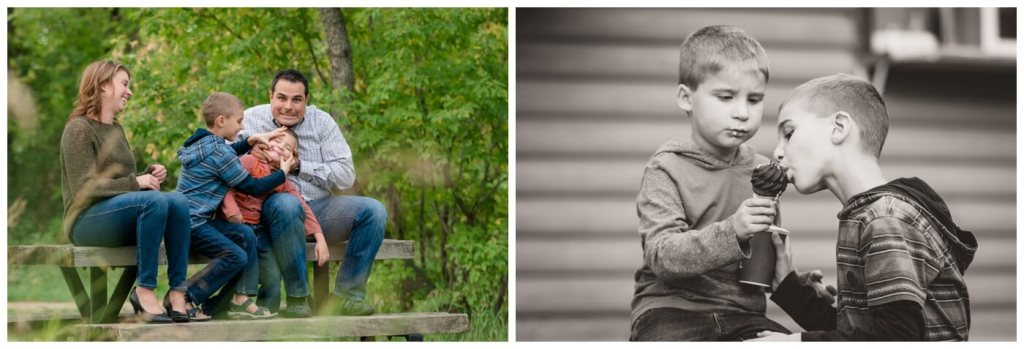 Regina Family Photographer - Favel Family - Kyle-Richelle-Ty-Jace - Wakamow Valley Park - The Burger Cabin
