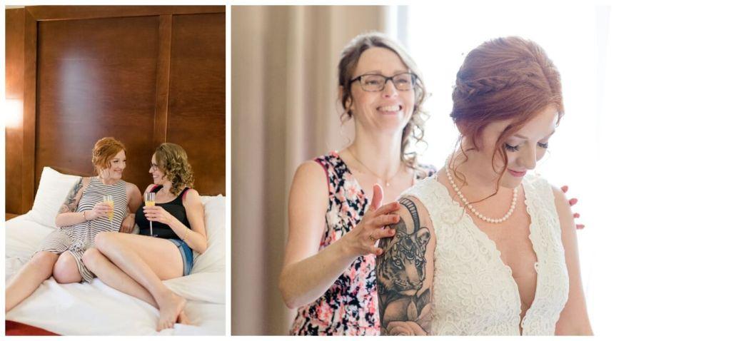 Regina Wedding Photographers - Cole-Alisha - Fall Wedding - Comfort Suites Regina - Bridal Prep - Mother & Daughter