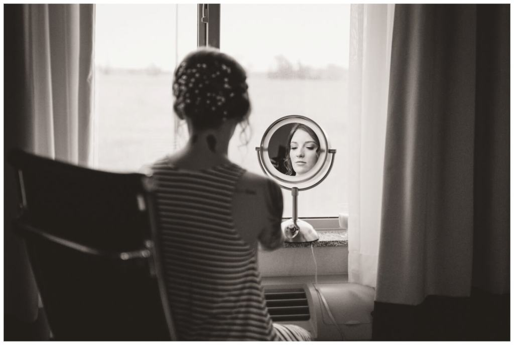 Regina Wedding Photography - Cole-Alisha - Fall Wedding - Bridal preparation - Bridal Makeup