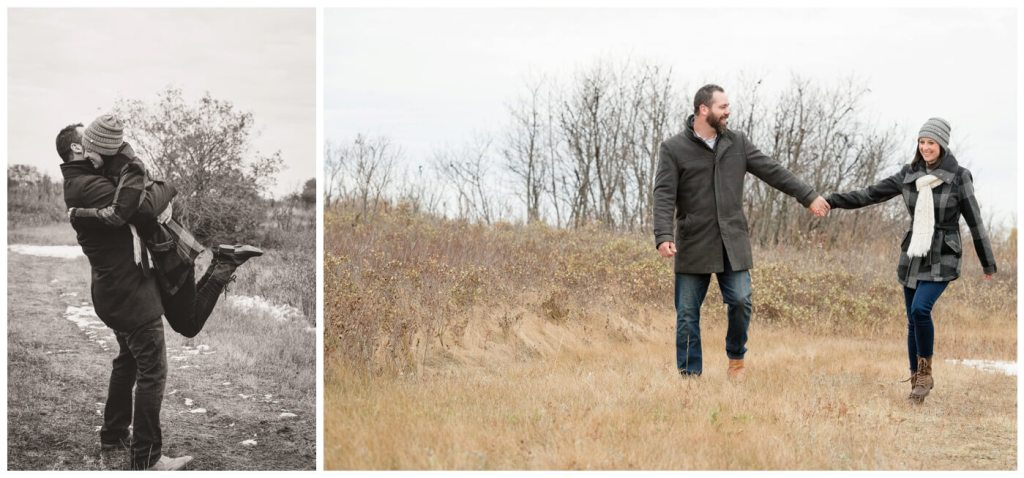 Regina Family Photographer - Lisa-Kim - Fall Family - Wascana Trails - Walking - Grey Peacoat