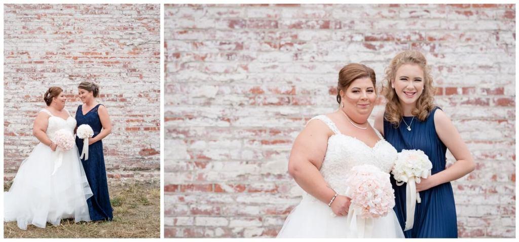 Regina Wedding Photographey - Ashley-Scott - Fall Wedding - Navy Bridesmaid Dress - Lace - Chiffon Wedding Gown