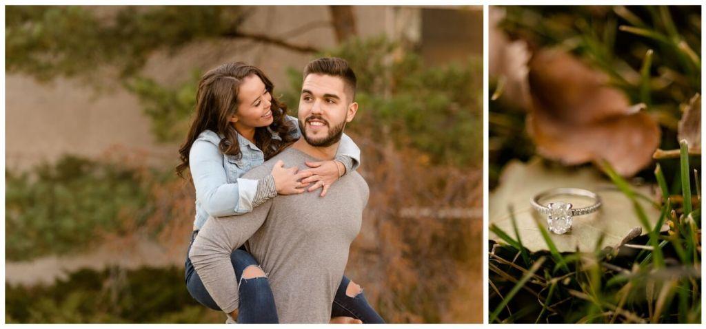 Regina Engagement Photographer - Ben-Kaitlyn - Thai Engagement - CBC Regina - Oval Cut Engagement Ring