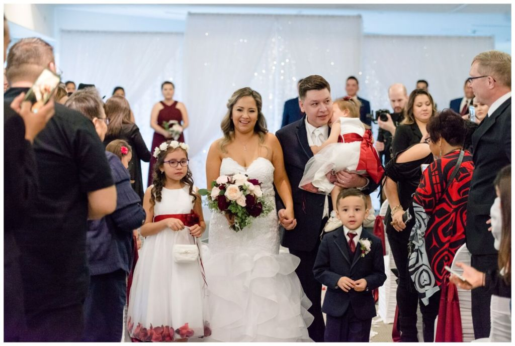 Regina Wedding Photographer - Laurie - Destiny - Fall Wedding - MacKenzie Art Gallery - Family Recessional