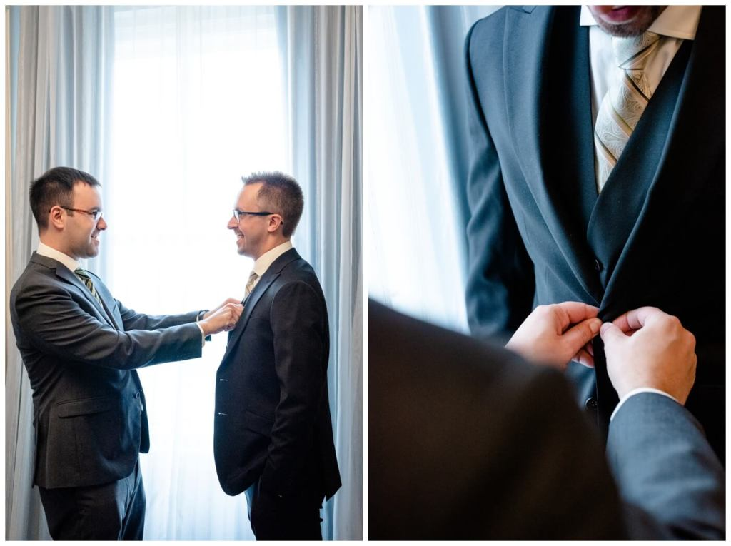 Regina Wedding Photographers - Dave - Sarah - Wedding - Groom Prep - Hotel Saskatchewan