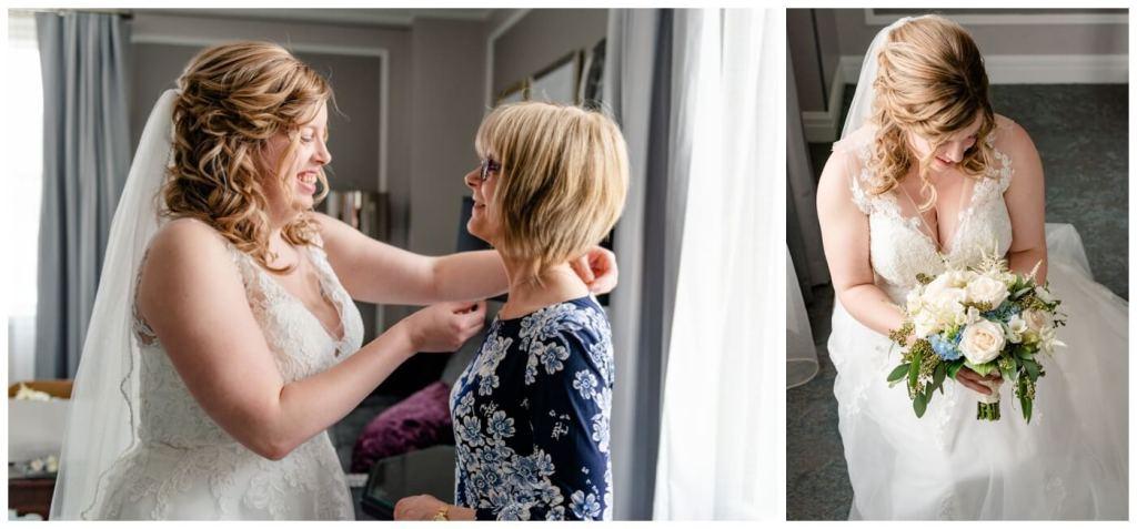 Regina Wedding Photography - Dave - Sarah - Wedding - Bridal Prep - Bride & Her mother - Hotel Saskatchewan