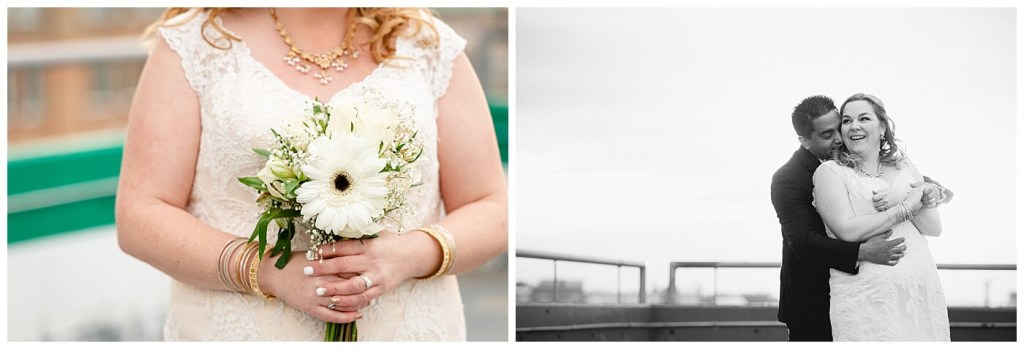 Regina Wedding Photography - Nishant - Corrina - Sunset Photos - Bride's bouquet and groom wrapping up bride