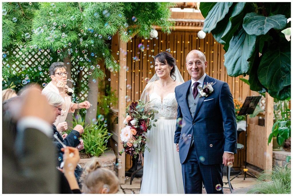 Scott & Keely - Regina Wedding - Ceremony Bubble Exit