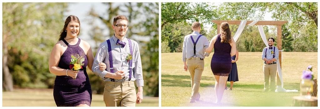 Regina Wedding Photographer - Ryan - Aeliesha - Bridal Party walking down the aisle - AE Wilson Park