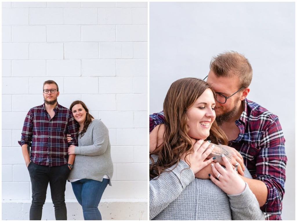 Regina Engagement Photographer - Kolton & Maxine - 003 - White wall snuggles