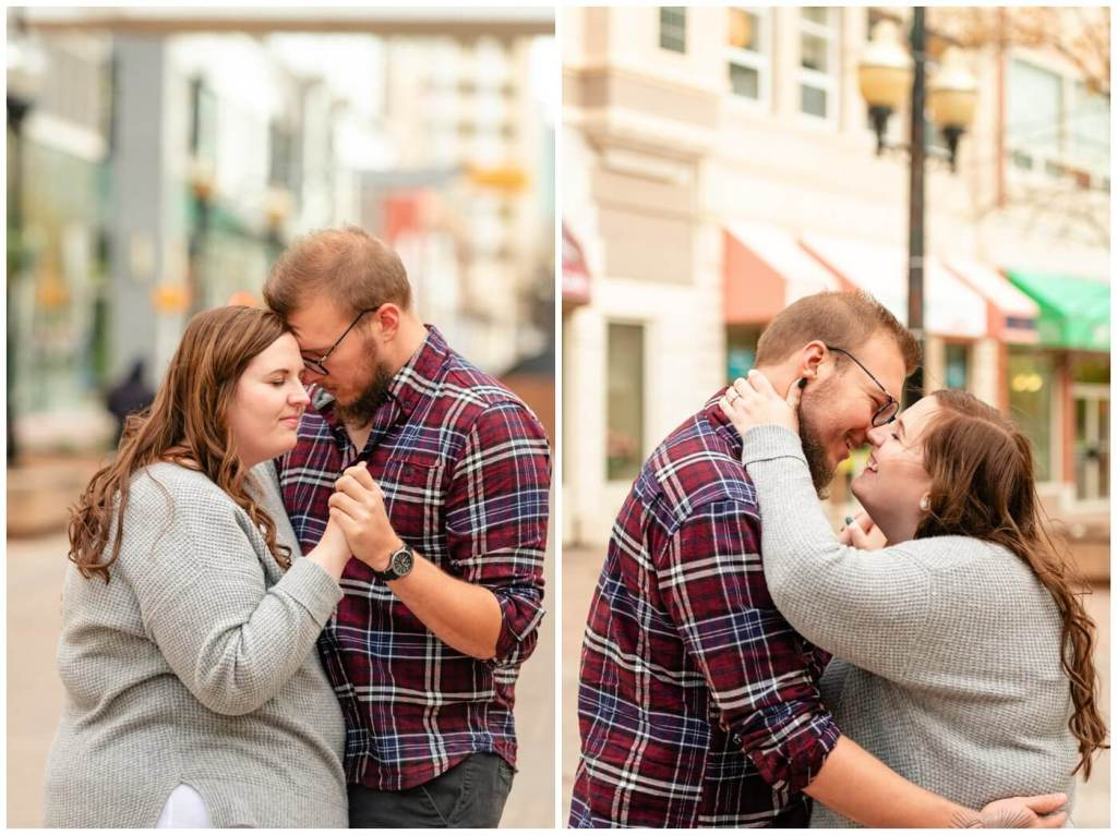 Regina Engagement Photographer - Kolton & Maxine - 010 - Scarth Street dancing
