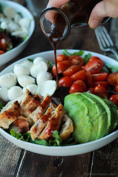 caprese turke salad