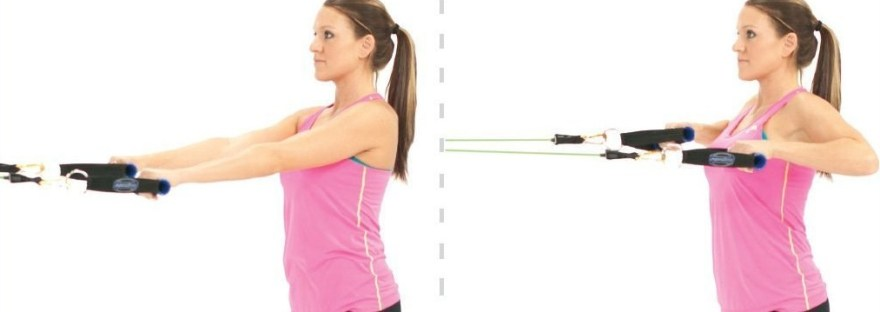 Exercise Of The Week Standing Rows Using Resistance Bands