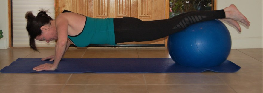push ups with stability ball