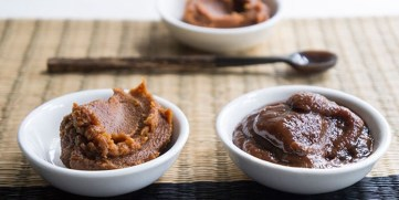 Miso, made from fermented soy beans and grains is a great source of probiotics.