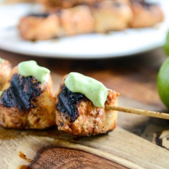 adobo lime chicken skewers
