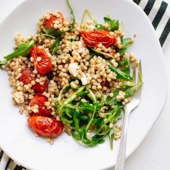 whole grain arugula salad