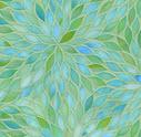 blue green glass tile mosaic