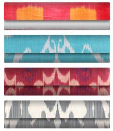 ikat fabrics bright colors