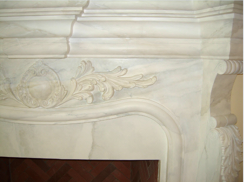 plaster that looks like marble, mantel detail marble finish