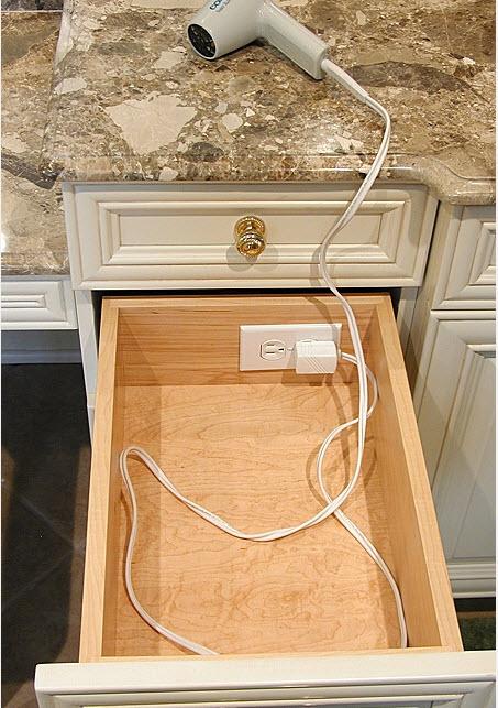 outlets inside drawer