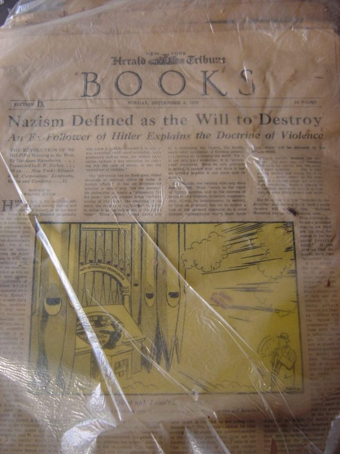 New York Herald, Nazi Defined as Will to Destroy, 1939