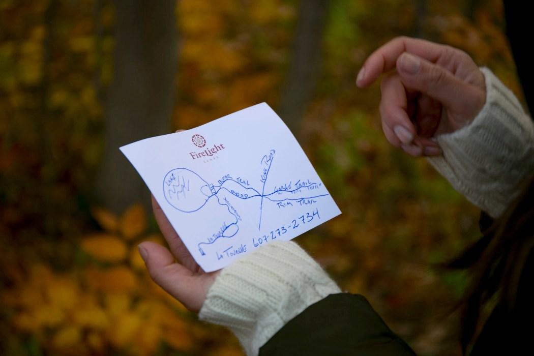 handwritten map