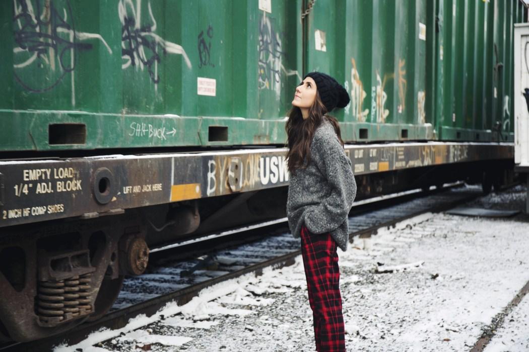 Courtney Scott Travel Blogger Anne Klein Train Tracks