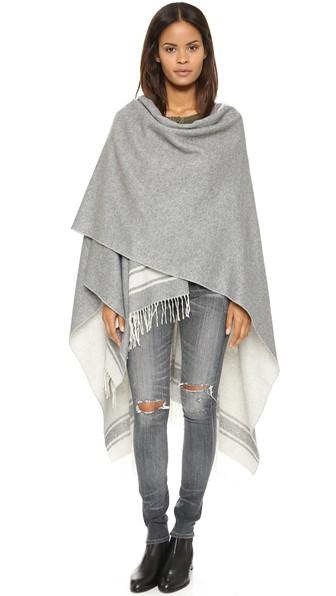 reversible blanket poncho