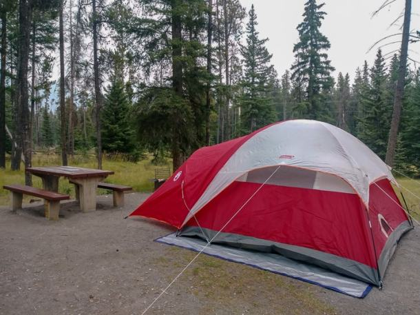 camping banff national park