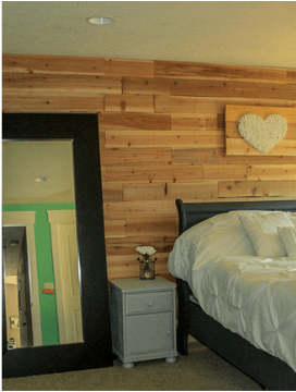 Fence board plank wall