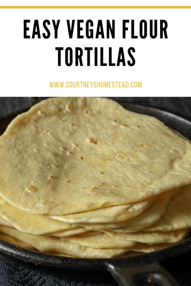 Easy homemade vegan tortilla