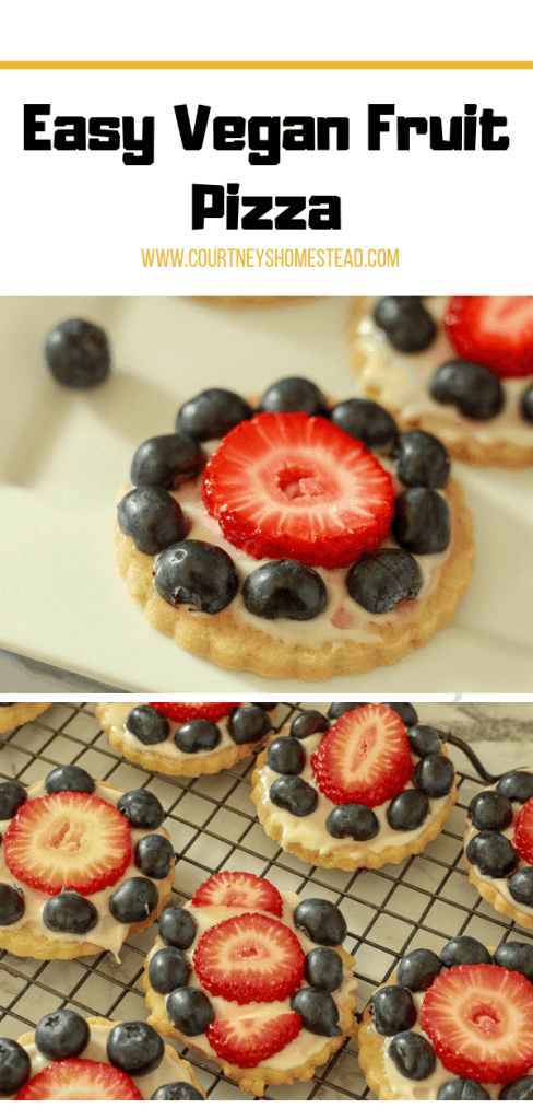 Easy Vegan Mini Fruit Pizzas