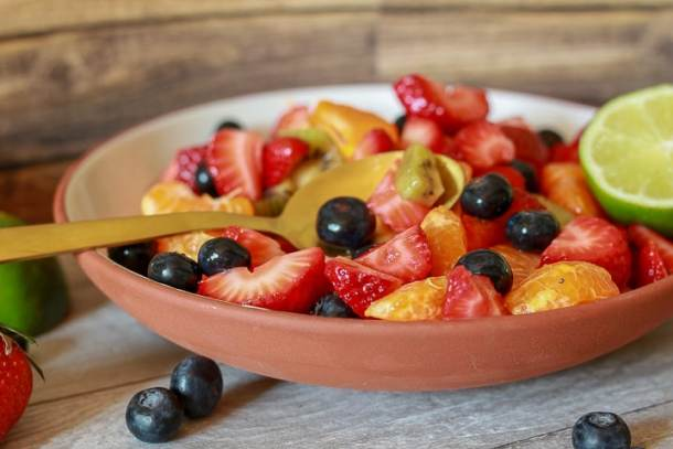 Easy Fruit Salad with  Citrus Glaze