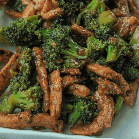 vegan beef and broccoli