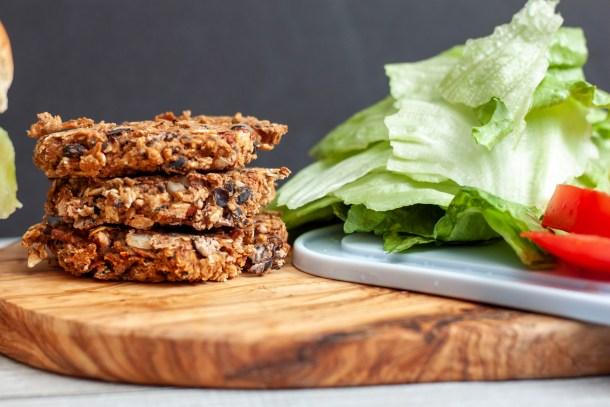 Vegan bean burger patties