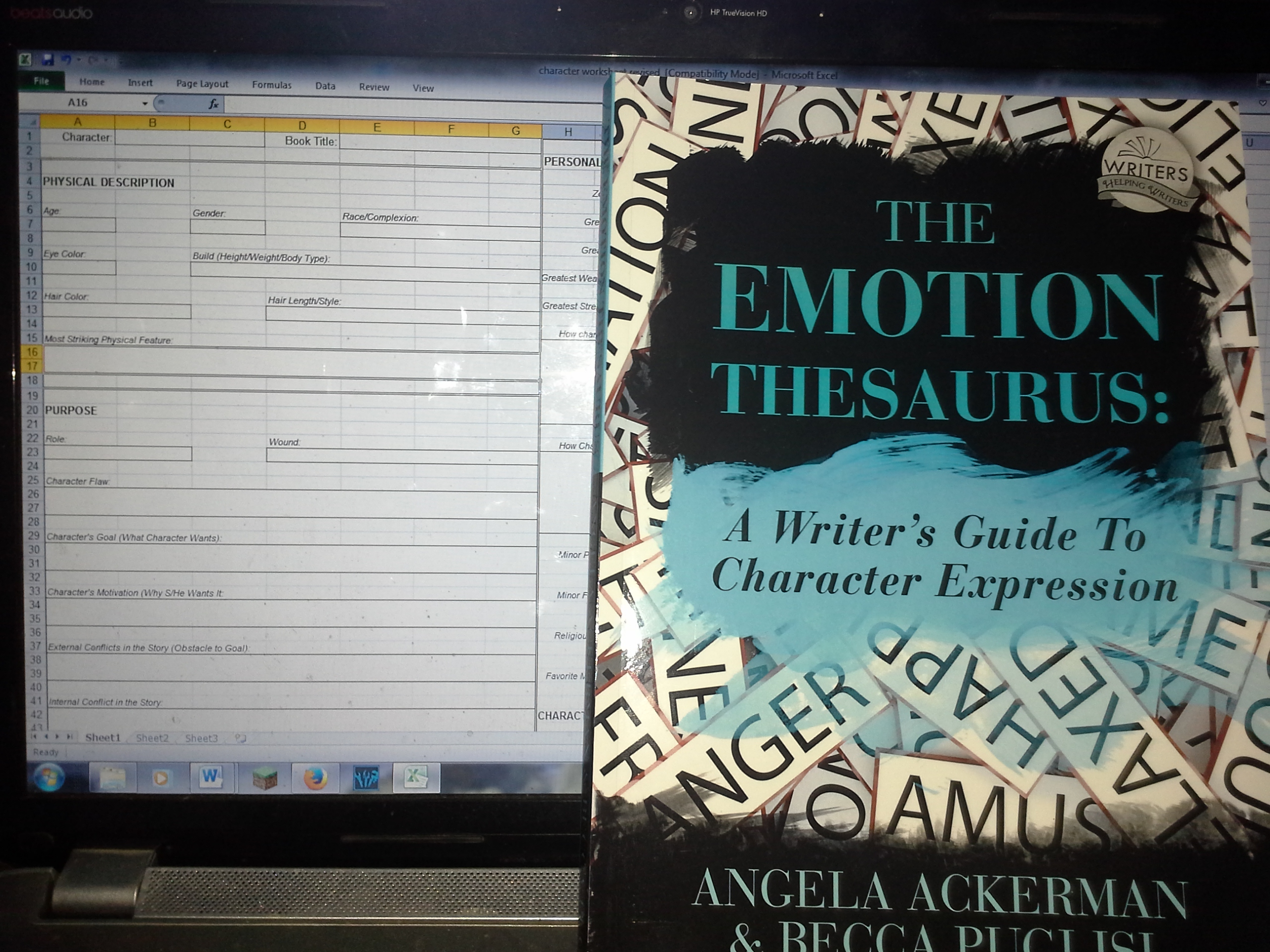 Updating The Character Worksheet Emotions