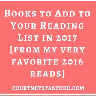 Books to Add to Your Reading List in 2017 {from my very favorite 2016 reads}
