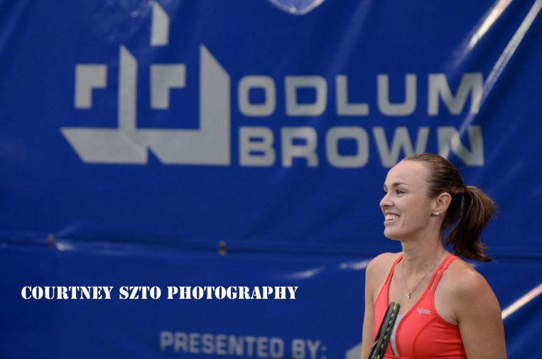 Exhibition match vs. Sharon Fichman. Odlum Brown VanOpen. Hollyburn Country Club. Vancouver, B.C.