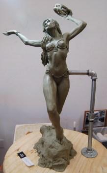 Tambourine Dancer sculpture | Chavant plasteline, 2014