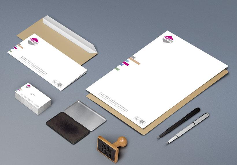 cartes et têtes de lettres peintisol entreprise