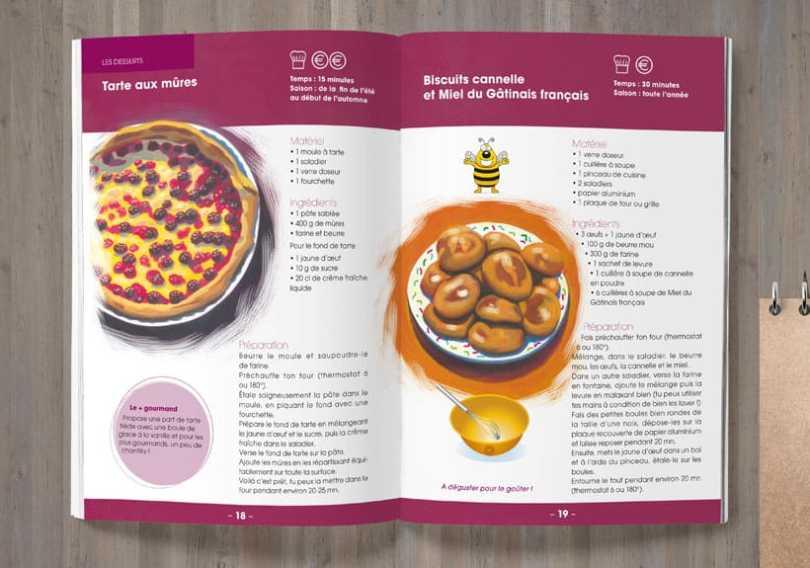 livret recettes parc naturel régional du gâtinais français tarte au mûres et gâteaux biscuits canelle et miel