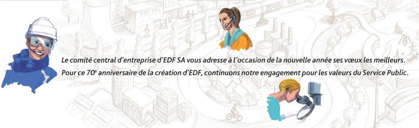 carte de vœux cce edf illustration