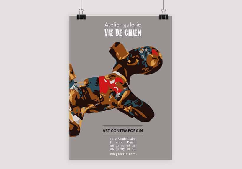 affiche A4 atelier-galerie Vie de Chien