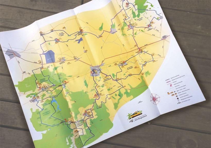 carte entière des randonnées de la brie nangissienne