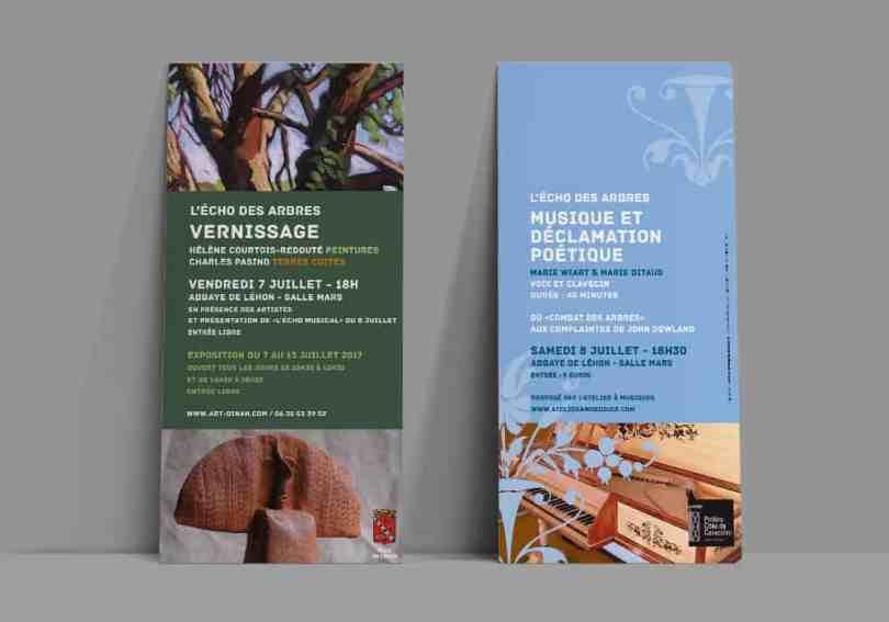 flyers vernissage exposition abbaye de Léhon