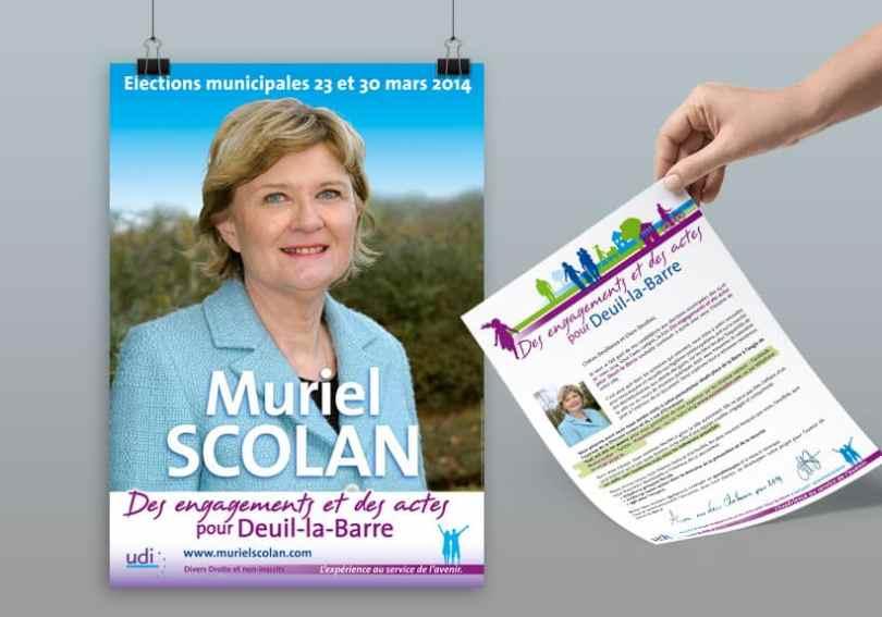 affiche de campagne muriel scolan