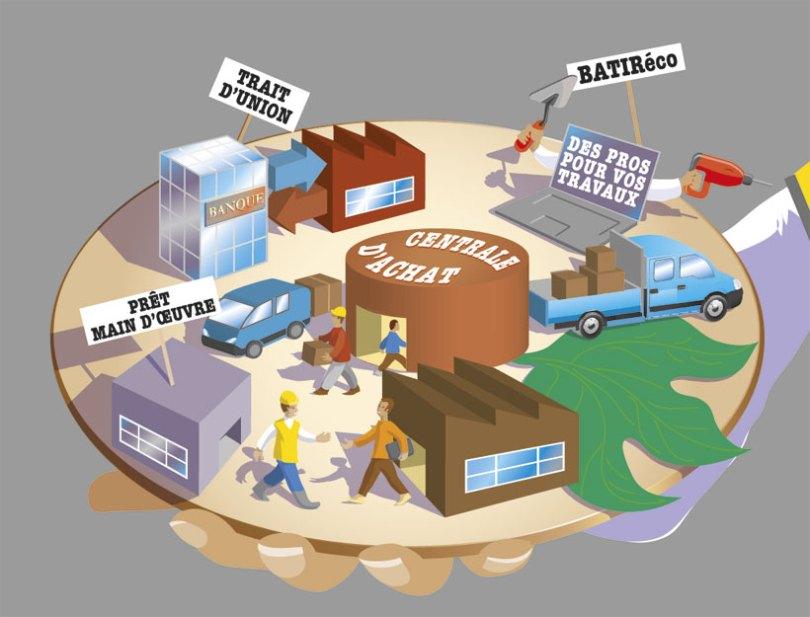 illustration communication d'entreprise BTP