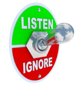 Listen Vs. Ignore - Toggle Switch