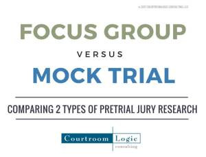 Focus group vs mock trail image, text only