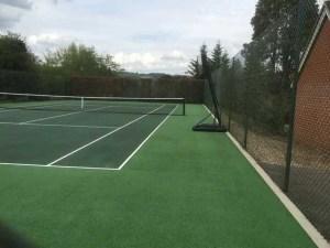 A tennis court in Brastead after restoration